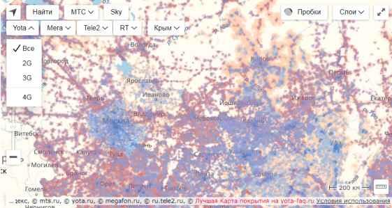 zone_4G_maps Карты зоны покрытия города Азнакаево