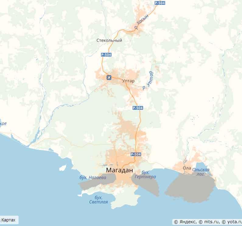 Теле2 4G Магаданская область